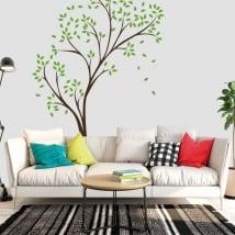 Vinilos decorativos y pegatinas árbol con hojas