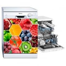 Vinilos lavavajillas collage frutas y hortalizas