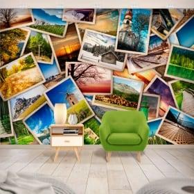 Fotomurales de vinilo collage de fotos