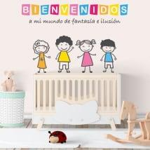 Vinilos infantiles bienvenidos a mi mundo