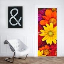 Vinilos flores para decorar puertas y armarios