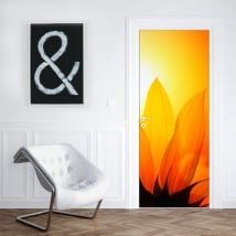 Vinilos decorar puertas y armarios con flores