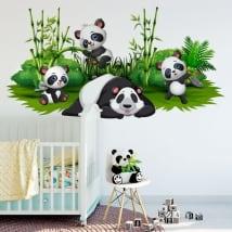 Vinilos decorar habitaciones infantiles osos panda