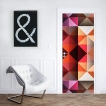 Vinilos para puertas y armarios triángulos colores