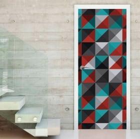 Vinilos y pegatinas puertas y armarios triángulos retro