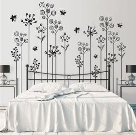 Vinilos y pegatinas flores decorar paredes y objetos