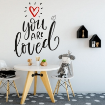 Vinilos y pegatinas frase inglés you are loved