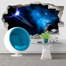 Vinilos decorativos galaxia agujero pared 3d