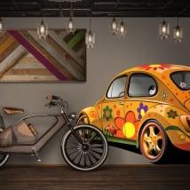 Vinilos decorativos y pegatinas volkswagen escarabajo