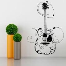 Vinilos decorativos guitarra con filigranas