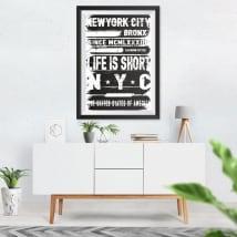 Vinilos decorativos new york city cuadro efecto 3d