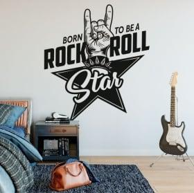 Vinilos y pegatinas rock and roll