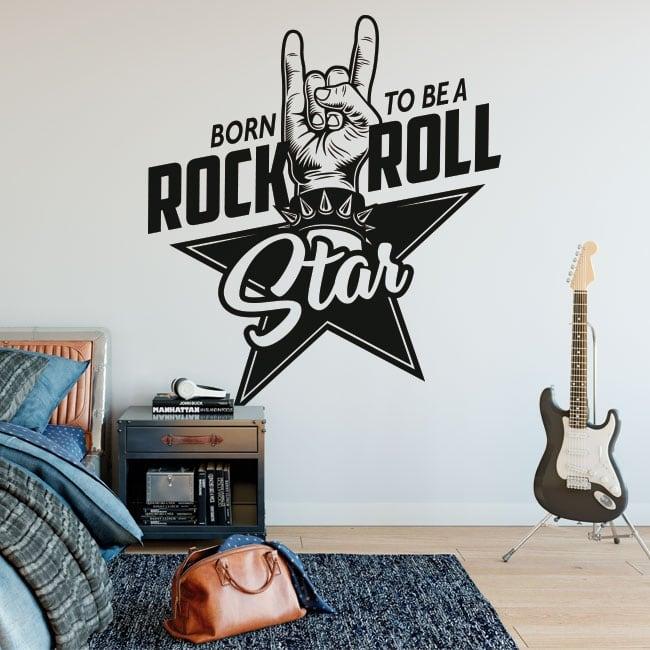 Vinilos decorativos rock and roll