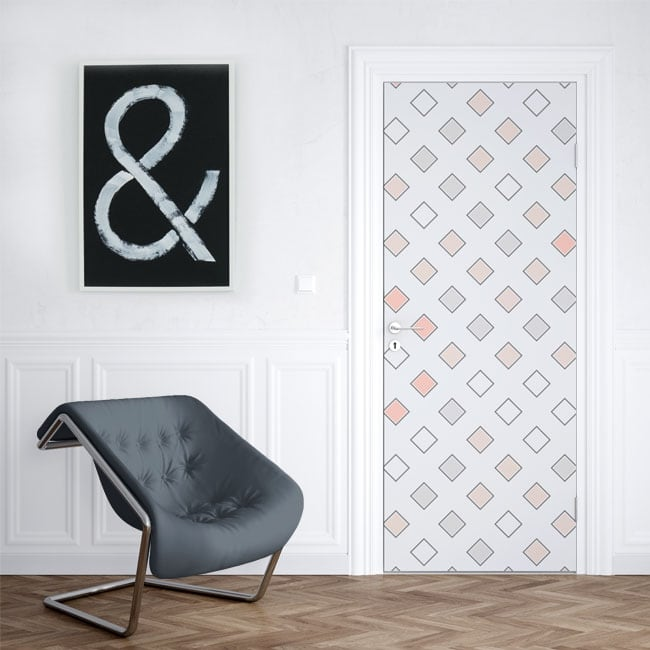 Vinilos para puertas y armarios cuadrados retro pop