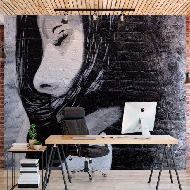 Murales de vinilos adhesivos grafiti urbano