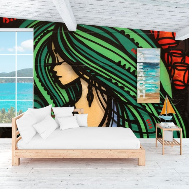 Murales de vinilos decorativos grafiti arte urbano