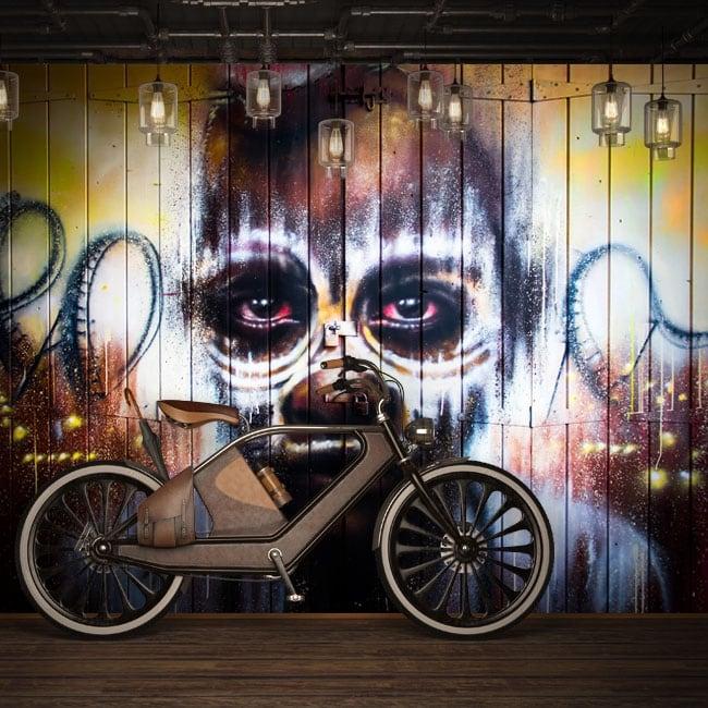 Murales de vinilo grafiti arte urbano