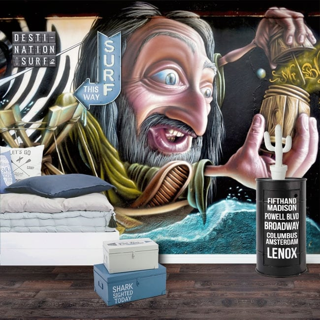 Murales y vinilos grafiti arte urbano