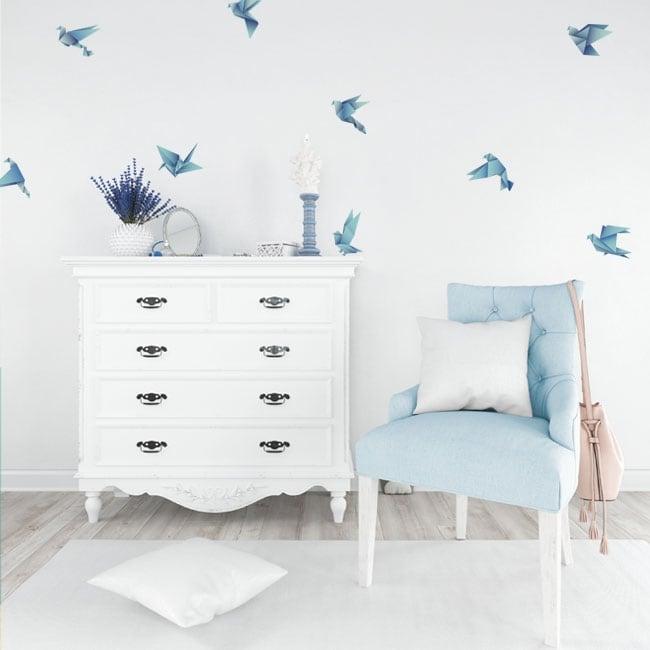 Vinilos decorativos y pegatinas aves origami