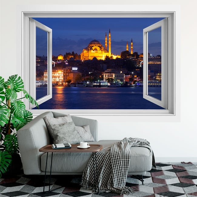 Vinilos ventanas estambul mezquita de suleiman 3d