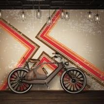 Murales de vinilos con estilo retro para decorar
