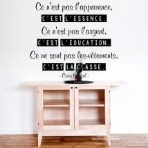 Vinilos decorativos coco chanel frase francés