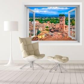 Vinilos torre guinigi ciudad de lucca toscana italia 3d