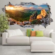 Vinilos atardecer en rocky mountain eslovaquia 3d