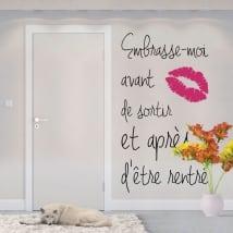 Vinilos frases en francés bésame antes de salir