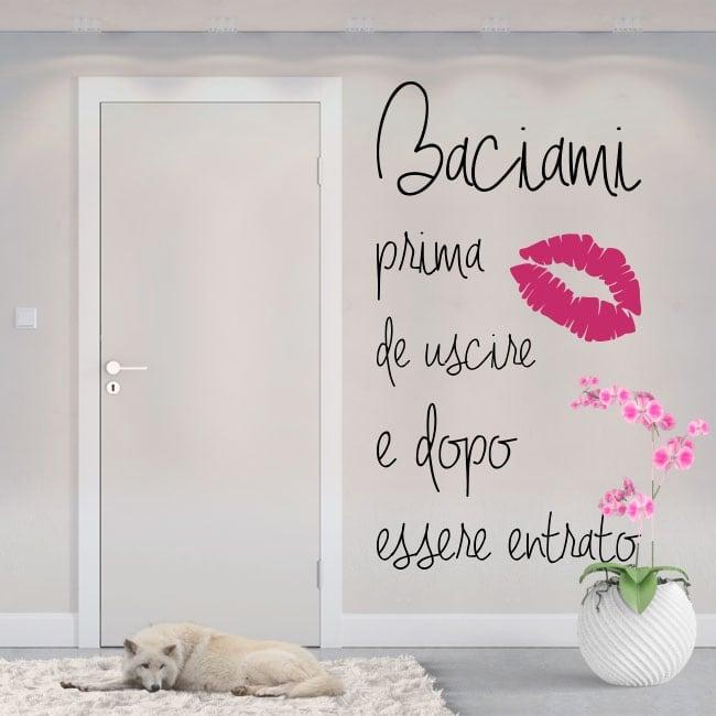 Vinilos con frases en italiano bésame antes de salir