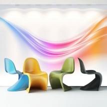 Fotomurales vinilos trazos de colores