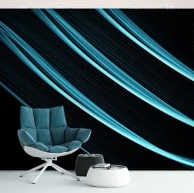 Murales de vinilos paredes y objetos trazos azules
