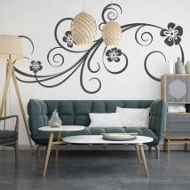 Vinilos decorativos decorar paredes con flores