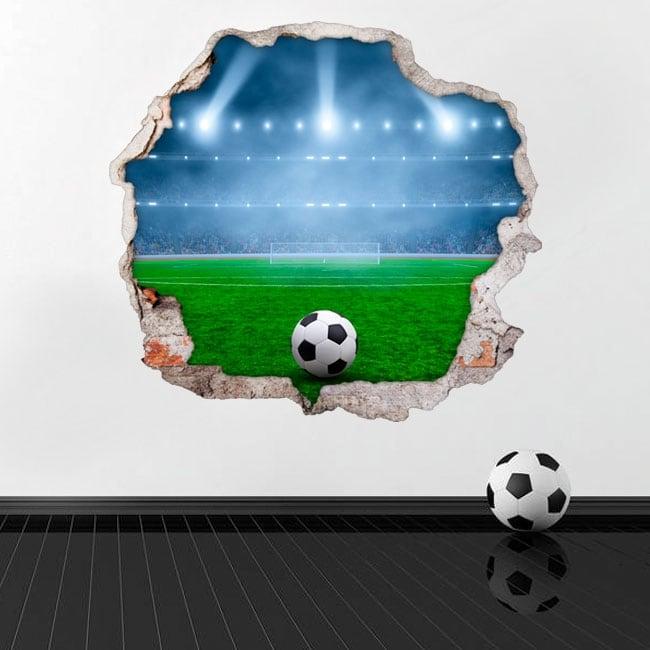 Vinilos de pared campo de fútbol 3d