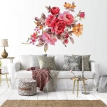 Vinilos decorativos flores paredes