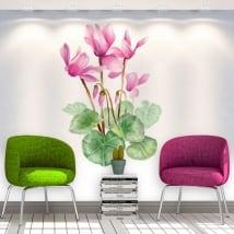 Pegatinas y vinilos decorativos flores paredes
