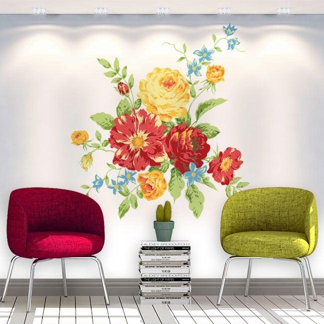 Pegatinas de vinilos flores paredes y objetos