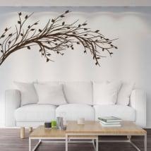 Pegatinas de vinilos rama de árbol con hojas