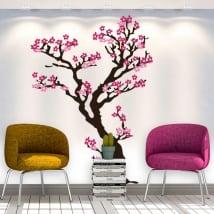 Pegatinas y vinilos decorativos árbol con flores