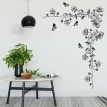 Vinilos decorativos flores y mariposas