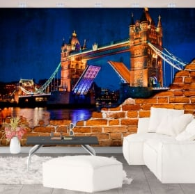 Fotomurales de vinilo pared rota london tower bridge