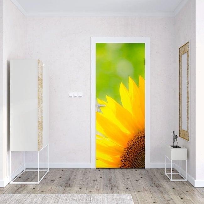 Vinilos decorar puertas y armarios girasol for Decorar puertas armario