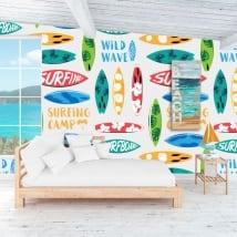 Murales de vinilos para decorar paredes y objetos surfing