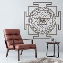 Vinilos decorativos mandalas sri yantra