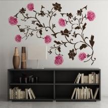 Vinilos rosas decoración paredes y objetos