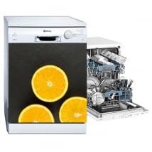 Vinilos decorativos para lavavajillas naranjas