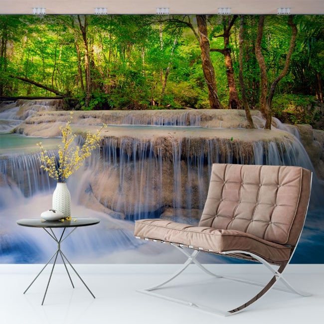 Murales de vinilos cascadas en el bosque