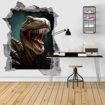 Vinilos decorativos 3d ilustración dinosaurio