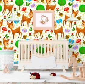 Fotomurales de vinilos infantiles bambi