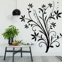 Vinilos decorativos flores para decorar paredes y objetos